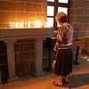 A pilgrim in prayer at St. Giragos Church.