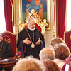 Archbishop Aram Ateshian, the Patriarchal Vicar, welcomes pilgrims.