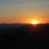 The sun sets over the hills of Kharpert.