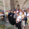 Pilgrims take part in a requiem service for the souls of those who perished in the Armenian Genocide.