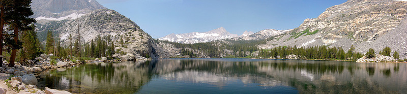 """Here's a 4-photo panoramic of Pine Creek Lake. Panoramics are really the only way for the viewer to get that """"you are there"""" feeling."""