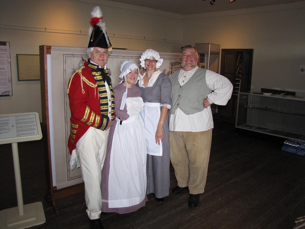 Robin Derrick the Duke, Melanie Parker PPHS Staff, Alicia Sallyi  volunteer , Ken Ramsden performer Fresh Water Trade 6120