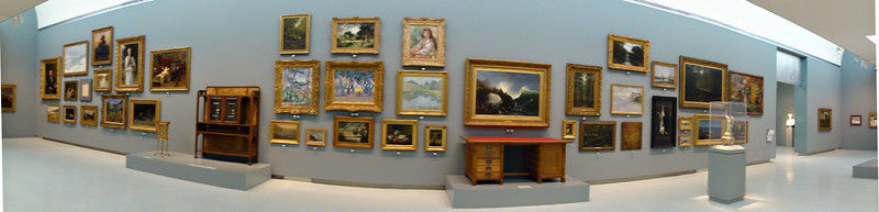 This wall had major works that could not be fit in the galleries.