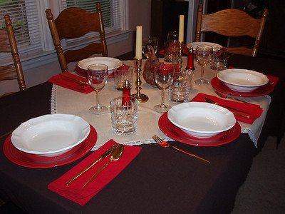 Place Settings, Tables