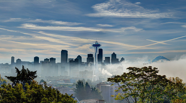 foggy day in Seattle