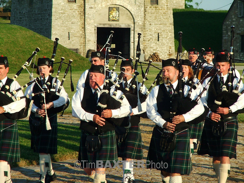 "MacKenzie Highlanders ( <a href=""http://macbagpipe.com"">http://macbagpipe.com</a> ) at Old Fort Niagara, Youngstown, NY"
