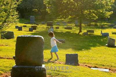 girl in the cemetery