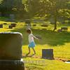 girl in the cemetery