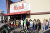 Our wait was only 45 minutes for a late lunch at Hodad's of Ocean Beach, California