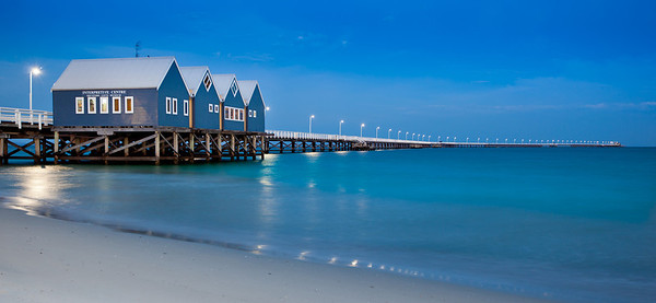 Busselton Jetty, Western Australia, just before sunrise.