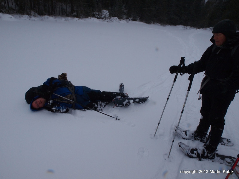 """Apparently, this candidate overextended his energy reach.  Although reminiscent of photos from """"Death on Denali"""" accounts, Brian fully recovered and completed the mission.  My guess is that on the next trip, he will be leaving his half pound, one liter lexan super mug behind."""
