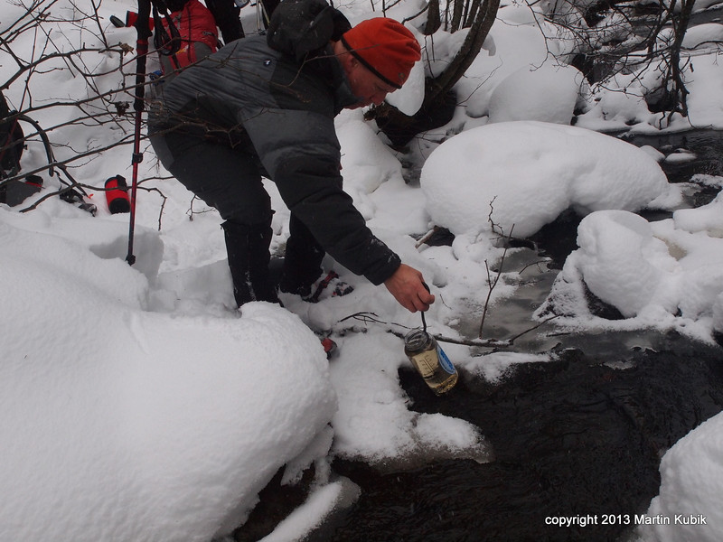 Using a steripen to purify water saves us fuel (=weight).  In addtion we keep melting snow (= time +fuel weight) to minimum.  It is very important to treat or boil water in winter (little hassle), or else you might get giardia (big hassle and social exclusion).