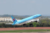 Korean Air Boeing 777 head for Seoul South Korea.
