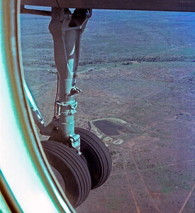 Coming in to land at Emerald in December 1982