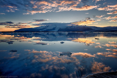 Sun Sets on a Glacial Lagoon