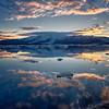 Sun Sets on a Glacial Lagoon