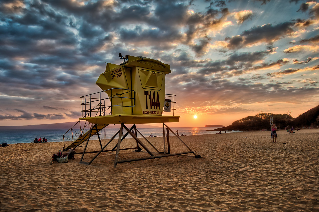 Off Duty on Big Beach, Maui