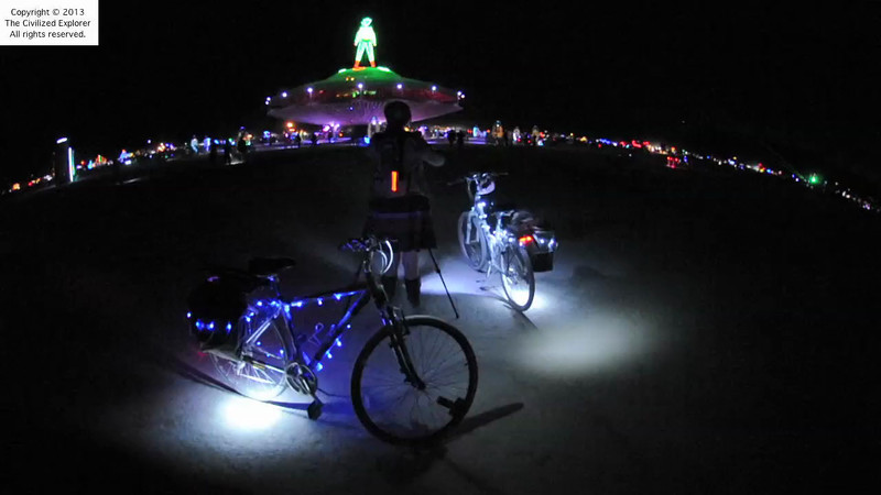 Our bikes at night