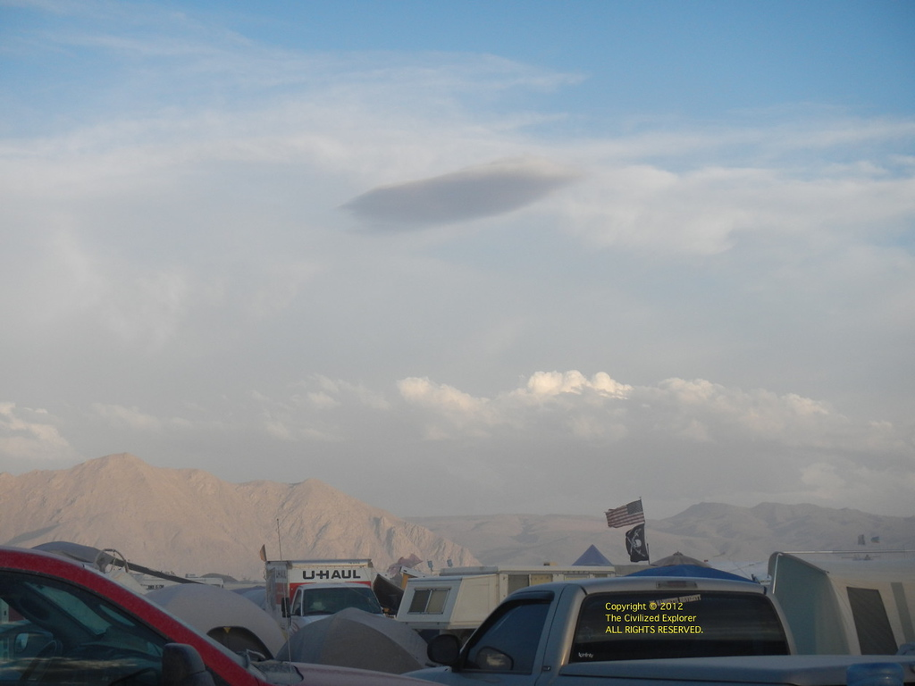 Nice clouds, but it portends some dusty times.