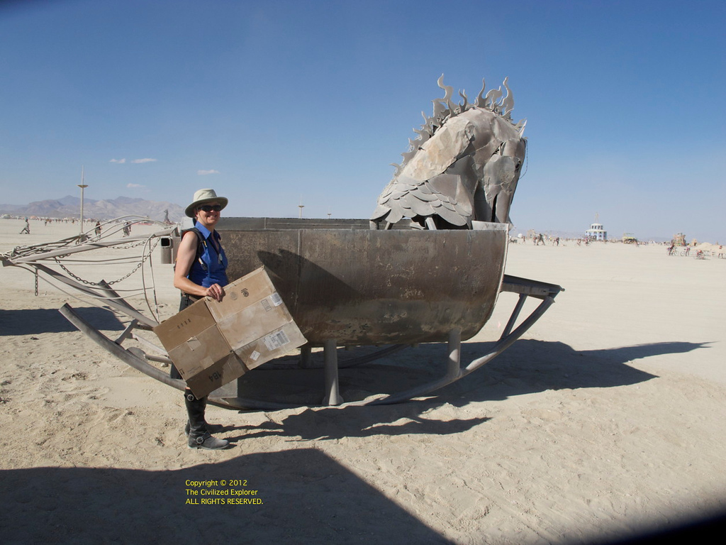 Burn barrels are art at Burning Man