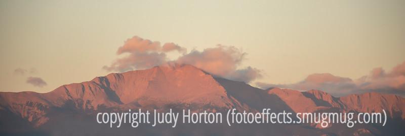 Pike's Peak at Sunrise