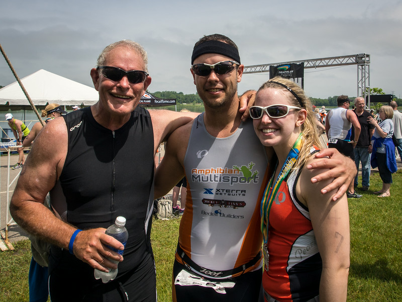 David, Ryan, & Missi after completing the tri