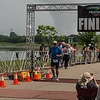 David at finish line