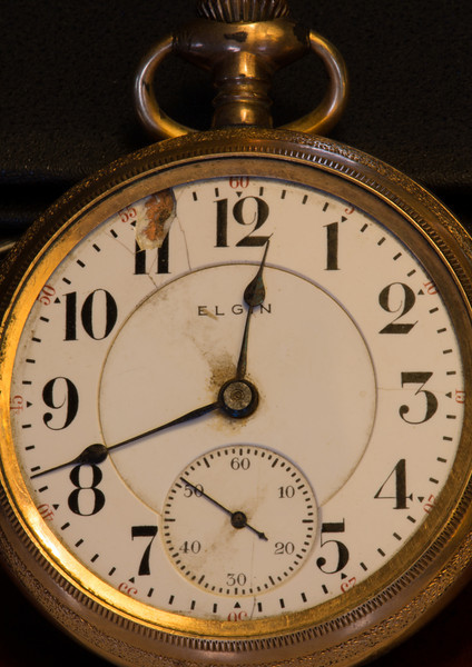This Elgin watch was manufactured in 1903 and has been in my family from about that time.