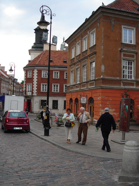Old town Warsaw -- rebuilt from ruins, after WWII.