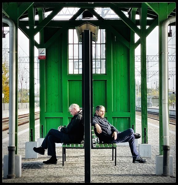 Waiting for the Train in Warsawa