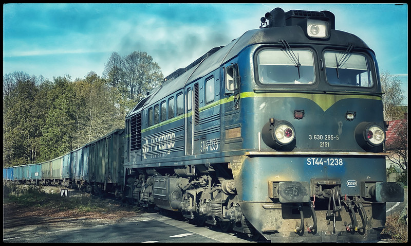 Train with coal cargo