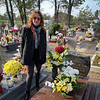 At my grandmother's grave in Czerwona Woda
