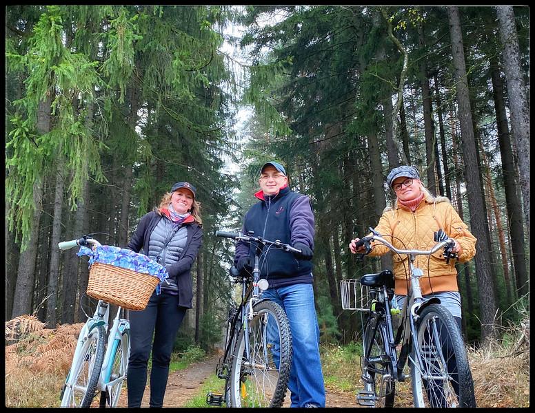 Biking through the forest