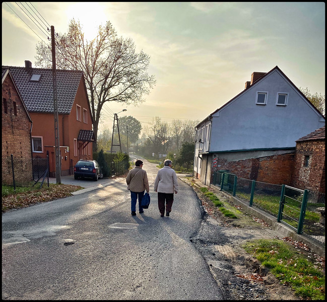 My mom and aunt in the village