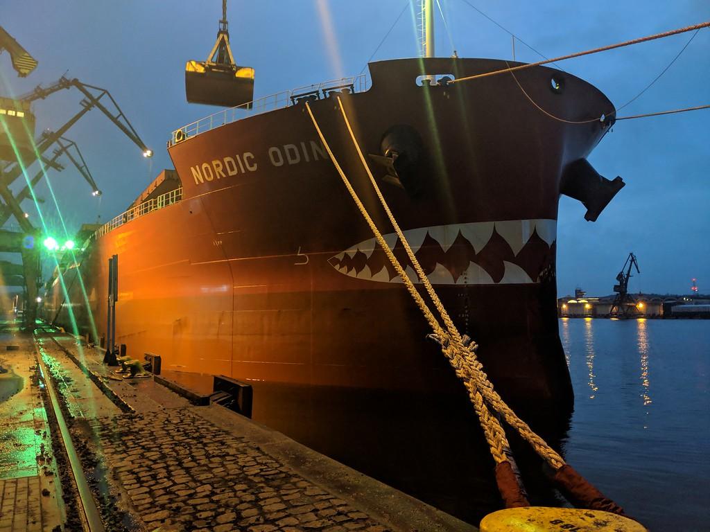 The M/V Nordic Odin, in port in Gdansk, Poland
