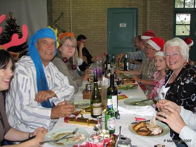 Christmas Dinner - Jane, Keith, Claire, Mick at end, John, Peter, Karen, Anastasia, Ann