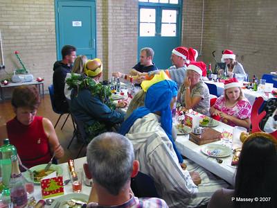 Christmas Dinner - Amanda, Derek's head - Mick, Beverley A, Andy B, Claire, Keith, Jane. John, Peter, Karen B, Anastasia.