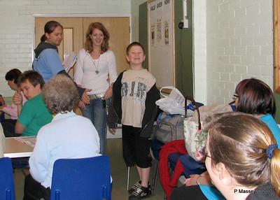 Sam, Salome & Howard [Winner of the Children's Trophy]. Beccy & Zoe to right.