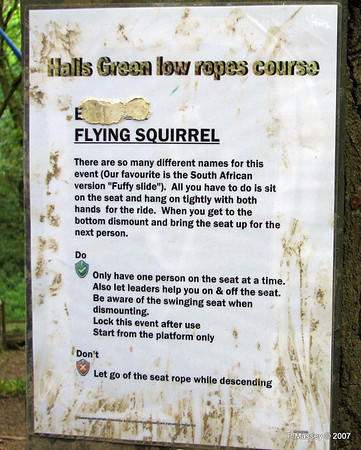 Low Ropes Course - Flying Squirrel