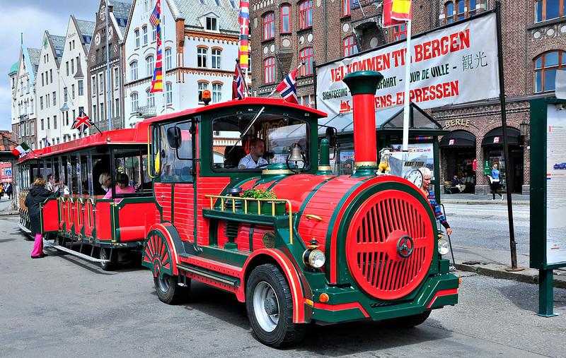Tourist train in Bergen