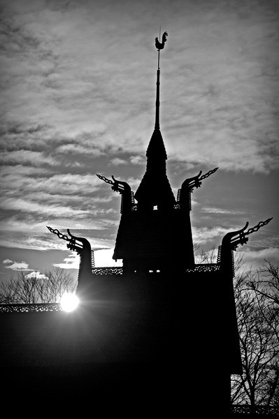 Fantoft stavkyrkje i Bergen<br /> <br /> Fantoft stave church in Bergen
