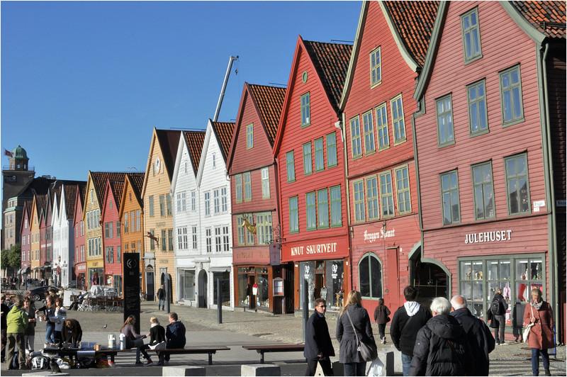 Bryggen i Bergen<br /> <br /> Bryggen in Bergen has since 1979 been on UNESCO list for World Cultural Heritage sites