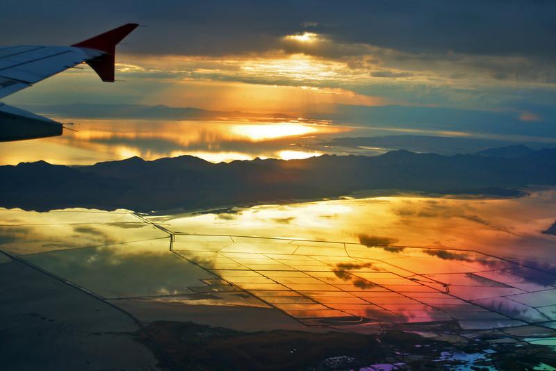 Katrina Brooks - Sunset over Great Salt Lake, Utah