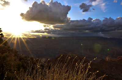 Before sunset in Grand Canyon