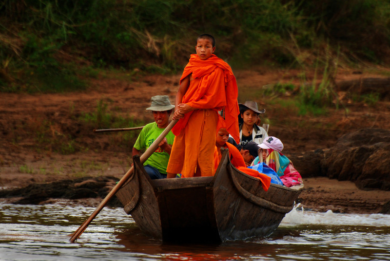 Greg Goodman - Monk Pilot on the Mekong River, Laos