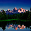 John Mead - The Tetons from Schwabacher's Landing