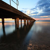 Ruth Yates - sunset from under the pier