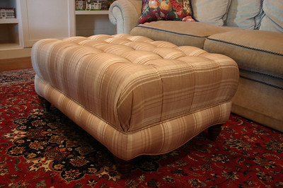 Super clean upholstered ottoman