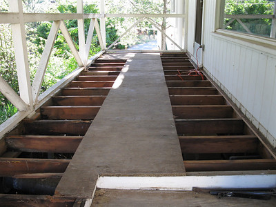 Porch deck replacement