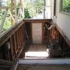 Most of old floor removed. Now, for the steps (hope to salvage).